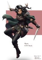C: Trista, Human Rogue by bchart