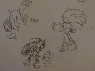 Sonic Sketches: 2 by SonicWindAttack