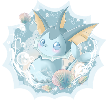 Commission #5 - Vaporeon by Ayasal