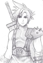 Cloud Strife Sketch by XenonVincentLegend