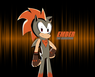 (OC) Ember the Hedgehog (for FlamingSkulls245) by SuperMario1792