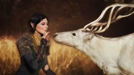 Merrill with Halla 3 - Dragon Age II cosplay by LuckyStrikeCosplay