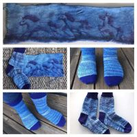 Horse sock blank - finished sock by KnitLizzy