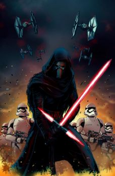 Kylo Ren and the First Order by glovestudios
