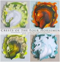 Four Horsemen Crests by StrayaObscura