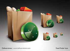 Food Finder Icon by dellustrations