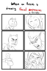 When an Artist is drawing facial expressions by NekOTAKUBox