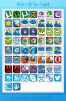 C2 Project - Clean Internet Icons v0.8 by Kalca