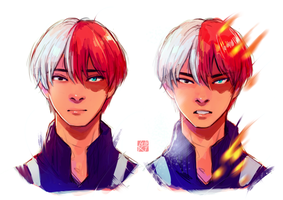 Todoroki Shouto by bbluebellies