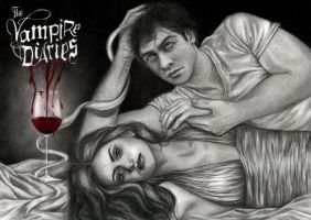 TVD - Damon and Elena by Flowertree-elf