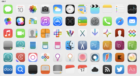 iOS 7 Icons (Updated) by iynque