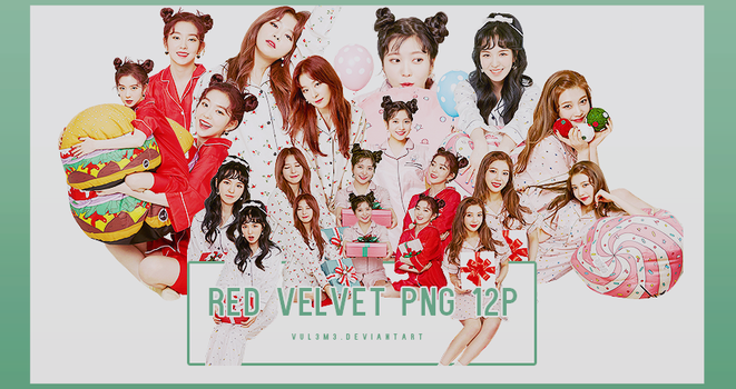 Red Velvet Christmas home party 12P PNG by vul3m3