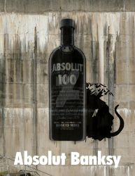 Absolut Banksy Ad by Hannahlore