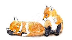 Fox Kits by FoxTaleStudio