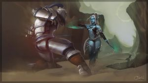 World of Warcraft vs Lineage 2 by Ork-artist