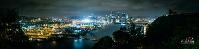Pittsburgh, PA (View: West End-Elliott Overlook) by ANNIHILATOR001