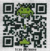 Space Invader QR Code Cross Stitch by LordLibidan