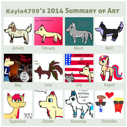 2014 Art Summary by kayla4799