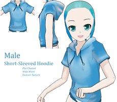 MMD- Male Hoodie -DL by MMDFakewings18