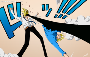 One Piece 840 - Sanji vs Niji by Melonciutus