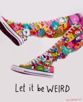 Be WEIRD Converse Boots by Bobsmade