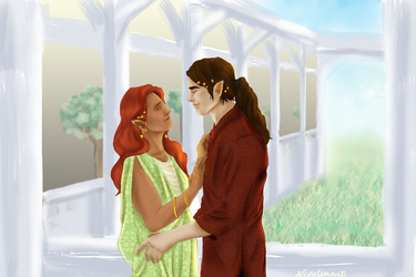 Feanor and Nerdanel by NixieGenesis