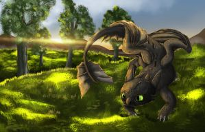 Toothless by A-roura
