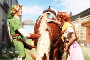 TZP: Link and Malon by Adella