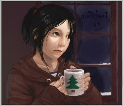 deviantID: winter coffee by aoikiwi