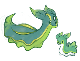 Grass/Water Gastrodon + Shellos