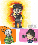 Jacksepticeye,Cryaotic, and Markiplier (Doodles) by FairyKats