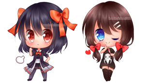 Mini Chibis by Hazelnutchan
