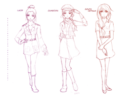 APH: Indochina Girls Design by MOLD123