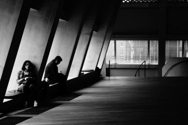 Tate Modern's tired visitors by Nyrey
