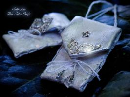 white star silver butterfly elvish wallet by Gwillieth