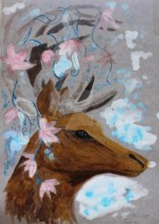 Deer by Tiialle