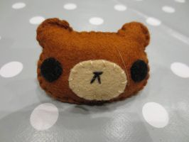 Brown Bear Hair Clip Barrette Nounours Brun by MUbyGaelle