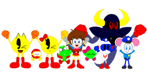 Just a drawing of some Namco characters by CHEEZN64X