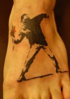 Banksy Tattoo by NateTheKnife