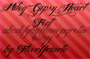 Gipsy Heart font by FloorYriarte