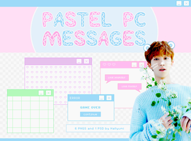 RENDERS: Pastel PC Messages by Hallyumi