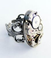 Steampunk Adjustable Ring 3 by Create-A-Pendant