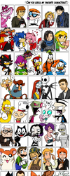 characters meme. by lunaticpaw