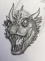 Angry dragon  by steel-the-black-bird