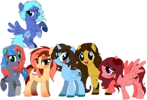 My Mane Six (updated) by NoxidamXV