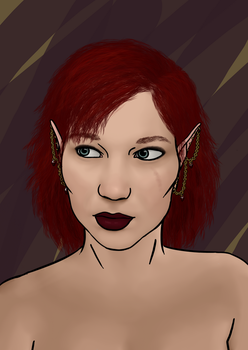 Elven portrait by LadyLaird