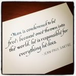 Instagram - Sartre - Condemned to be Free by MShades