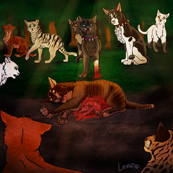 Tigerstar's death by Lexiiis