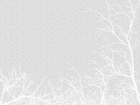 white wallpaper and trees by friedenlinde