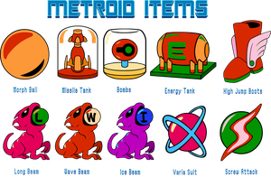 Metroid Items by Doctor-G